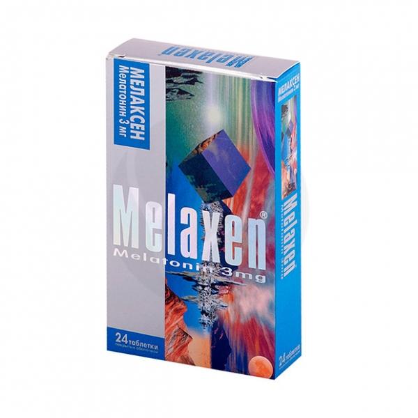 Мелаксен таблетки 3мг, №24 Таблетки, покрытые оболочкой Блистер - пачка картонная ЮНИФАРМ ИНК., купить в аптеке ВИТА